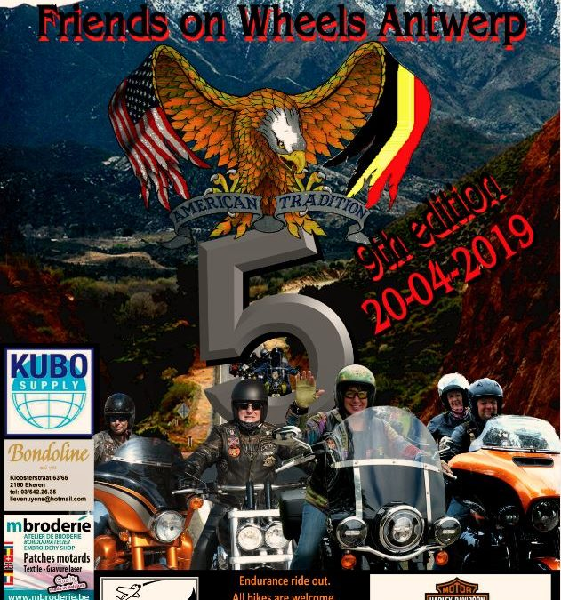 BIG 5 Friends on Wheels 19 – 21 april 2019