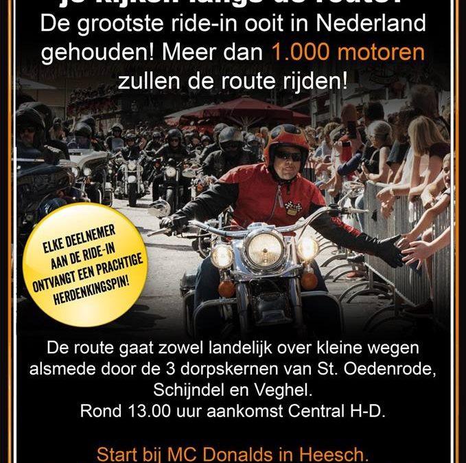 Ride-in 5 mei naar Central Harley-Day