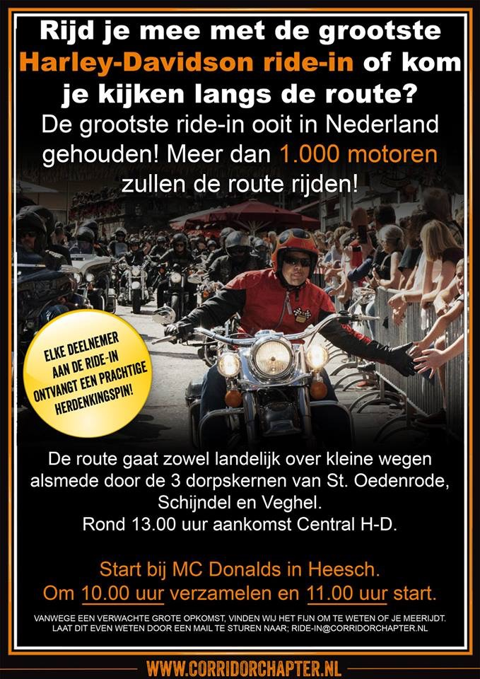 Ride-in 5 mei naar Central Harley-Day